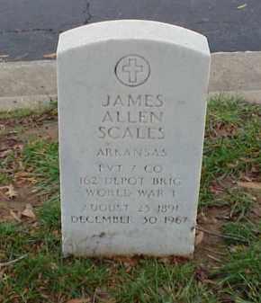 SCALES (VETERAN WWI), JAMES ALLEN - Pulaski County, Arkansas | JAMES ALLEN SCALES (VETERAN WWI) - Arkansas Gravestone Photos
