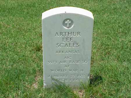 SCALES (VETERAN WWII), ARTHUR LEE - Pulaski County, Arkansas | ARTHUR LEE SCALES (VETERAN WWII) - Arkansas Gravestone Photos