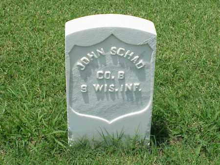 SCHAD (VETERAN UNION), JOHN - Pulaski County, Arkansas | JOHN SCHAD (VETERAN UNION) - Arkansas Gravestone Photos