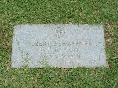 SCHAFFNER (VETERAN WWII), ALBERT - Pulaski County, Arkansas | ALBERT SCHAFFNER (VETERAN WWII) - Arkansas Gravestone Photos
