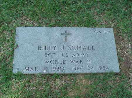 SCHALL (VETERAN WWII), BILLY J - Pulaski County, Arkansas | BILLY J SCHALL (VETERAN WWII) - Arkansas Gravestone Photos