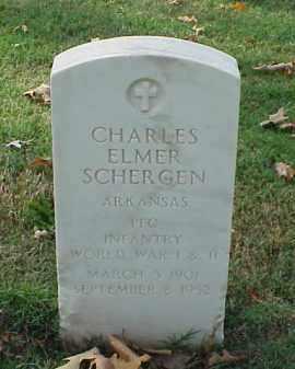 SCHERGEN (VETERAN 2 WARS), CHARLES ELMER - Pulaski County, Arkansas | CHARLES ELMER SCHERGEN (VETERAN 2 WARS) - Arkansas Gravestone Photos