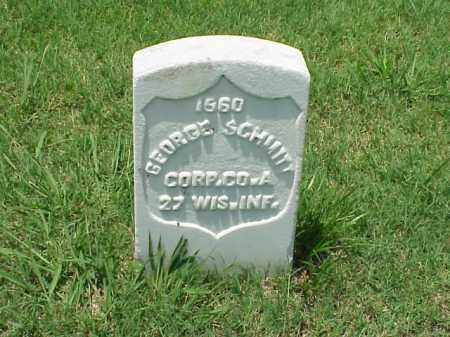 SCHMITT (VETERAN UNION), GEORGE - Pulaski County, Arkansas | GEORGE SCHMITT (VETERAN UNION) - Arkansas Gravestone Photos