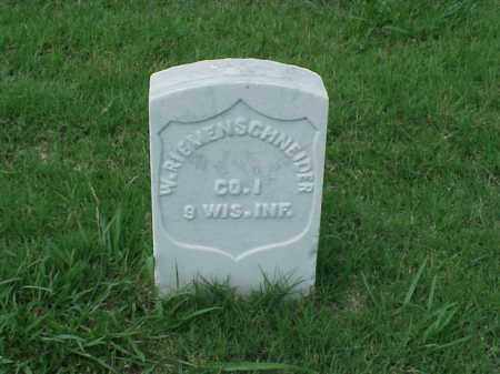 RIEMENSCHNEIDER (VETERAN UNION, W - Pulaski County, Arkansas | W RIEMENSCHNEIDER (VETERAN UNION - Arkansas Gravestone Photos