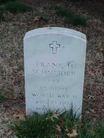 SCHNEIDER (VETERAN WWII), FRANK H - Pulaski County, Arkansas | FRANK H SCHNEIDER (VETERAN WWII) - Arkansas Gravestone Photos