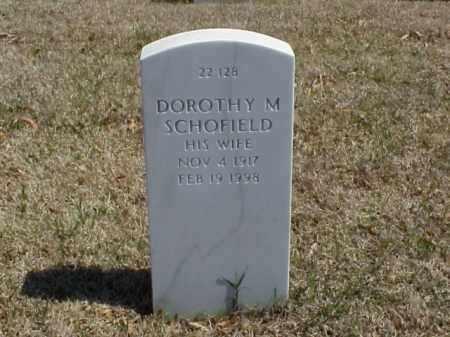 SCHOFIELD, DOROTHY M - Pulaski County, Arkansas   DOROTHY M SCHOFIELD - Arkansas Gravestone Photos