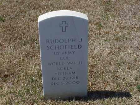 SCHOFIELD (VETERAN 3 WARS), RUDOLPH J - Pulaski County, Arkansas | RUDOLPH J SCHOFIELD (VETERAN 3 WARS) - Arkansas Gravestone Photos