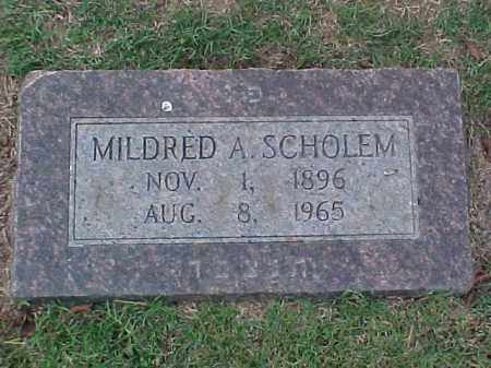 SCHOLEM, MILDRED A - Pulaski County, Arkansas | MILDRED A SCHOLEM - Arkansas Gravestone Photos
