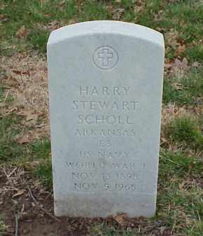 SCHOLL  (VETERAN WWI), HARRY STEWART - Pulaski County, Arkansas | HARRY STEWART SCHOLL  (VETERAN WWI) - Arkansas Gravestone Photos