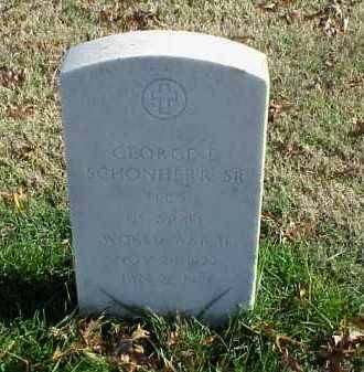 SCHONHERR, SR (VETERAN WWII), GEORGE E - Pulaski County, Arkansas | GEORGE E SCHONHERR, SR (VETERAN WWII) - Arkansas Gravestone Photos