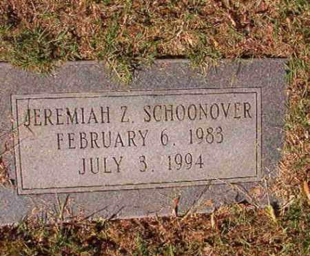SCHOONOVER, JEREMIAH Z - Pulaski County, Arkansas | JEREMIAH Z SCHOONOVER - Arkansas Gravestone Photos