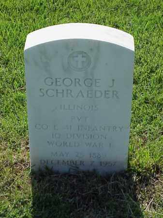 SCHRAEDER (VETERAN WWI), GEORGE J - Pulaski County, Arkansas | GEORGE J SCHRAEDER (VETERAN WWI) - Arkansas Gravestone Photos
