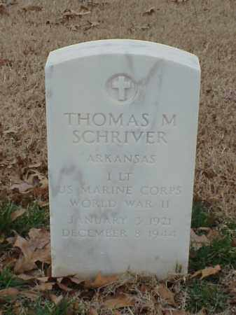 SCHRIVER (VETERAN WWII), THOMAS M - Pulaski County, Arkansas | THOMAS M SCHRIVER (VETERAN WWII) - Arkansas Gravestone Photos