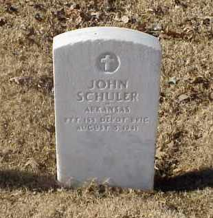 SCHULER (VETERAN WWI), JOHN - Pulaski County, Arkansas | JOHN SCHULER (VETERAN WWI) - Arkansas Gravestone Photos