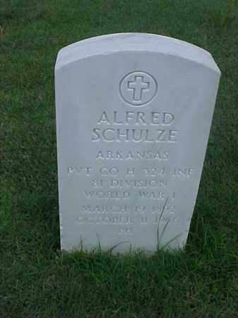 SCHULZE (VETERAN WWI), ALFRED - Pulaski County, Arkansas | ALFRED SCHULZE (VETERAN WWI) - Arkansas Gravestone Photos