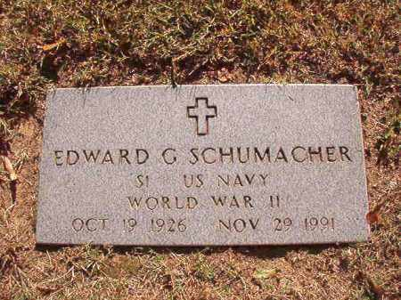 SCHUMACHER (VETERAN WWII), EDWARD G - Pulaski County, Arkansas | EDWARD G SCHUMACHER (VETERAN WWII) - Arkansas Gravestone Photos