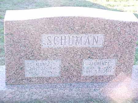 SCHUMAN, FLORENCE - Pulaski County, Arkansas | FLORENCE SCHUMAN - Arkansas Gravestone Photos