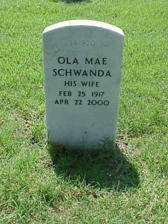 SCHWANDA, OLA MAE - Pulaski County, Arkansas | OLA MAE SCHWANDA - Arkansas Gravestone Photos