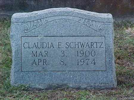 SCHWARTZ, CLAUDIA E - Pulaski County, Arkansas | CLAUDIA E SCHWARTZ - Arkansas Gravestone Photos