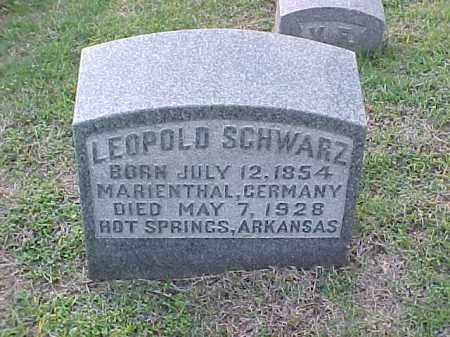 SCHWARZ, LEOPOLD - Pulaski County, Arkansas | LEOPOLD SCHWARZ - Arkansas Gravestone Photos