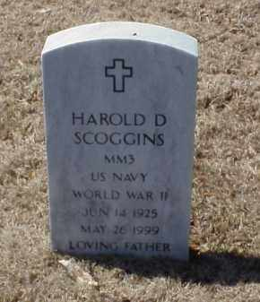 SCOGGINS (VETERAN WWII), HAROLD D - Pulaski County, Arkansas | HAROLD D SCOGGINS (VETERAN WWII) - Arkansas Gravestone Photos