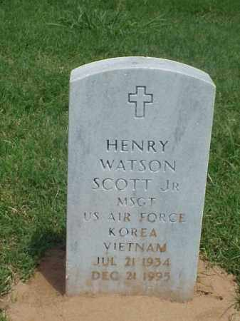 SCOTT, JR (VETERAN 2 WARS), HENRY WATSON - Pulaski County, Arkansas | HENRY WATSON SCOTT, JR (VETERAN 2 WARS) - Arkansas Gravestone Photos