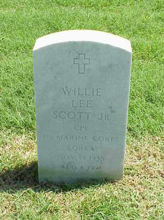 SCOTT, JR (VETERAN KOR), WILLIE LEE - Pulaski County, Arkansas | WILLIE LEE SCOTT, JR (VETERAN KOR) - Arkansas Gravestone Photos