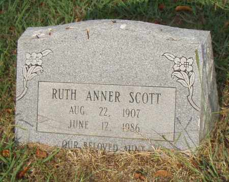 SCOTT, RUTH ANNER - Pulaski County, Arkansas | RUTH ANNER SCOTT - Arkansas Gravestone Photos