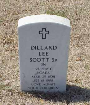 SCOTT, SR (VETERAN KOR), DILLARD LEE - Pulaski County, Arkansas | DILLARD LEE SCOTT, SR (VETERAN KOR) - Arkansas Gravestone Photos