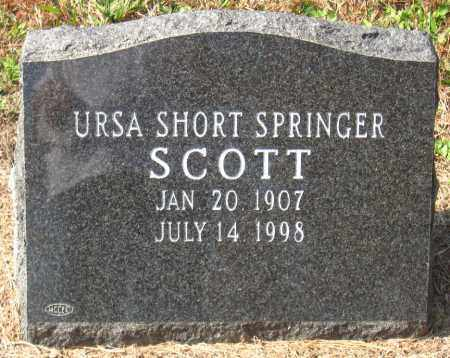 SHORT SPRINGER, URSA - Pulaski County, Arkansas | URSA SHORT SPRINGER - Arkansas Gravestone Photos