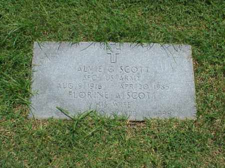 SCOTT (VETERAN 2 WARS), ALVIE G - Pulaski County, Arkansas | ALVIE G SCOTT (VETERAN 2 WARS) - Arkansas Gravestone Photos