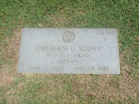 SCOTT (VETERAN KOR), HERMAN U - Pulaski County, Arkansas   HERMAN U SCOTT (VETERAN KOR) - Arkansas Gravestone Photos