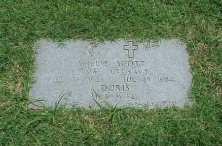 SCOTT (VETERAN WWII), WILLIE - Pulaski County, Arkansas | WILLIE SCOTT (VETERAN WWII) - Arkansas Gravestone Photos