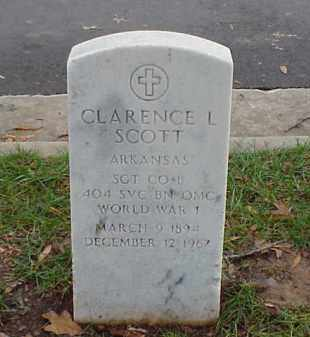 SCOTT (VETERAN WWI), CLARENCE L - Pulaski County, Arkansas | CLARENCE L SCOTT (VETERAN WWI) - Arkansas Gravestone Photos