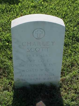 SCOTT (VETERAN WWI), CHARLEY - Pulaski County, Arkansas | CHARLEY SCOTT (VETERAN WWI) - Arkansas Gravestone Photos