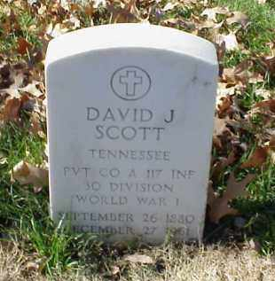 SCOTT (VETERAN WWI), DAVID J - Pulaski County, Arkansas | DAVID J SCOTT (VETERAN WWI) - Arkansas Gravestone Photos
