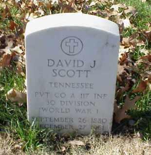 SCOTT (VETERAN WWI), DAVID J - Pulaski County, Arkansas | DAVID J SCOTT (VETERAN WWI) - Arkansas Gravestone Photos