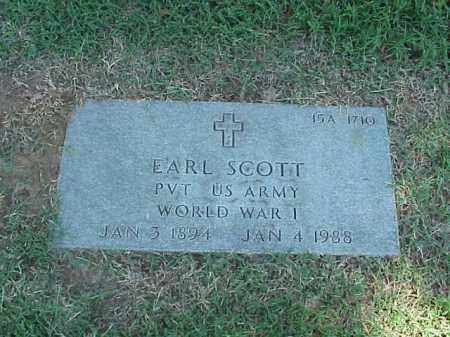 SCOTT (VETERAN WWI), EARL - Pulaski County, Arkansas | EARL SCOTT (VETERAN WWI) - Arkansas Gravestone Photos