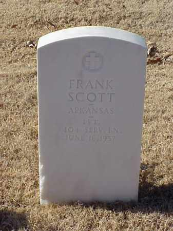 SCOTT (VETERAN WWI), FRANK - Pulaski County, Arkansas | FRANK SCOTT (VETERAN WWI) - Arkansas Gravestone Photos