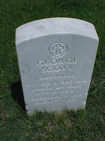 SCOTT (VETERAN WWI), GEORGE - Pulaski County, Arkansas | GEORGE SCOTT (VETERAN WWI) - Arkansas Gravestone Photos