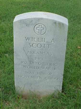 SCOTT (VETERAN WWI), WILLIE A - Pulaski County, Arkansas | WILLIE A SCOTT (VETERAN WWI) - Arkansas Gravestone Photos