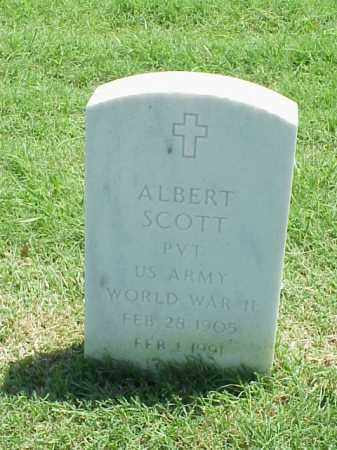 SCOTT (VETERAN WWII), ALBERT - Pulaski County, Arkansas | ALBERT SCOTT (VETERAN WWII) - Arkansas Gravestone Photos