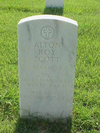 SCOTT (VETERAN WWII), ALTON ROY - Pulaski County, Arkansas | ALTON ROY SCOTT (VETERAN WWII) - Arkansas Gravestone Photos