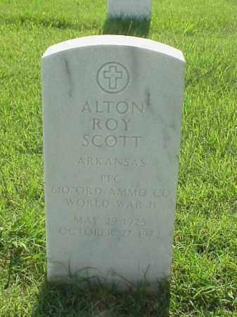 SCOTT (VETERAN WWII), ALTON ROY - Pulaski County, Arkansas | ALTON ROY SCOTT (VETERAN WWII) - Arkansas Gravestone Photos