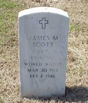 SCOTT (VETERAN WWII), JAMES M - Pulaski County, Arkansas | JAMES M SCOTT (VETERAN WWII) - Arkansas Gravestone Photos