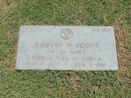 SCOTT (VETERAN 2 WARS), ROBERT W - Pulaski County, Arkansas | ROBERT W SCOTT (VETERAN 2 WARS) - Arkansas Gravestone Photos