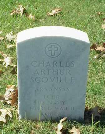 SCOVILLE (VETERAN 2 WARS), CHARLES ARTHUR - Pulaski County, Arkansas | CHARLES ARTHUR SCOVILLE (VETERAN 2 WARS) - Arkansas Gravestone Photos