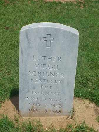 SCRIBNER (VETERAN WWI), LUTHER VIRGIL - Pulaski County, Arkansas | LUTHER VIRGIL SCRIBNER (VETERAN WWI) - Arkansas Gravestone Photos