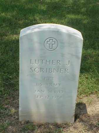 SCRIBNER (VETERAN WWII), LUTHER J - Pulaski County, Arkansas | LUTHER J SCRIBNER (VETERAN WWII) - Arkansas Gravestone Photos