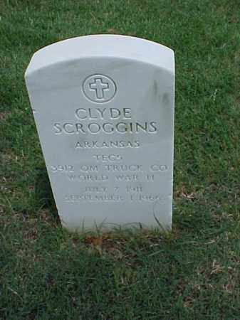 SCROGGINS (VETERAN WWII), CLYDE - Pulaski County, Arkansas | CLYDE SCROGGINS (VETERAN WWII) - Arkansas Gravestone Photos